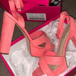 """Coral Red"" Heels"